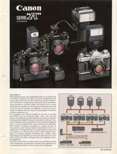 Documentation commerciale accessoires Canon série A